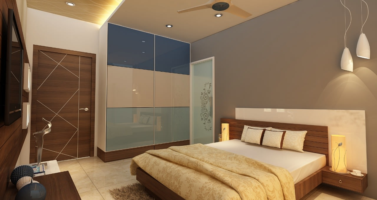 A stunning modern bedroom! by Mohammad Riyaz Bedroom Modern | Interior Design Photos & Ideas