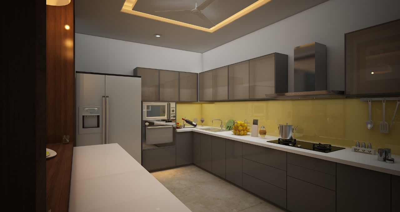 A stunning modular kitchen! by Mohammad Riyaz Modular-kitchen Modern | Interior Design Photos & Ideas