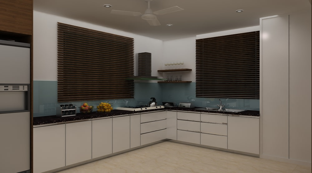A ravishing modular kitchen! by Mohammad Riyaz Modular-kitchen Modern | Interior Design Photos & Ideas