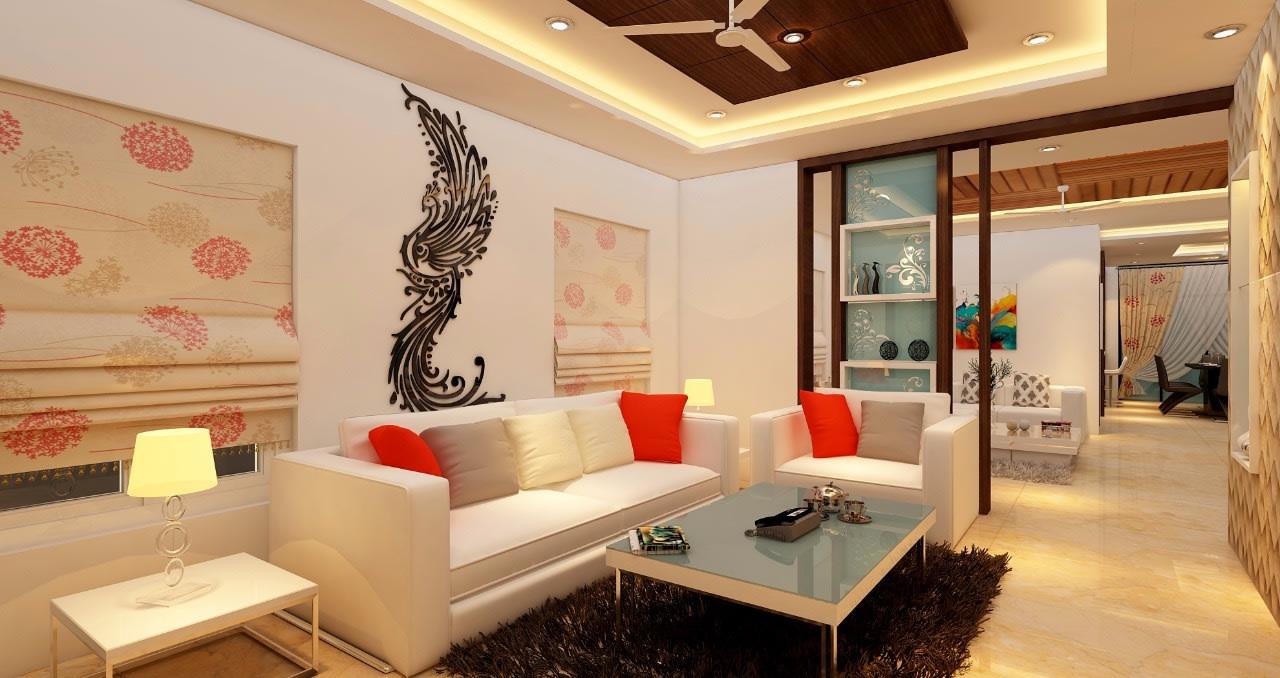 A ravishing living area!! by Mohammad Riyaz Living-room Modern | Interior Design Photos & Ideas