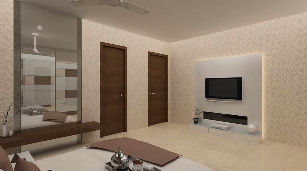 A modern bedroom by Mohammad Riyaz Modern | Interior Design Photos & Ideas