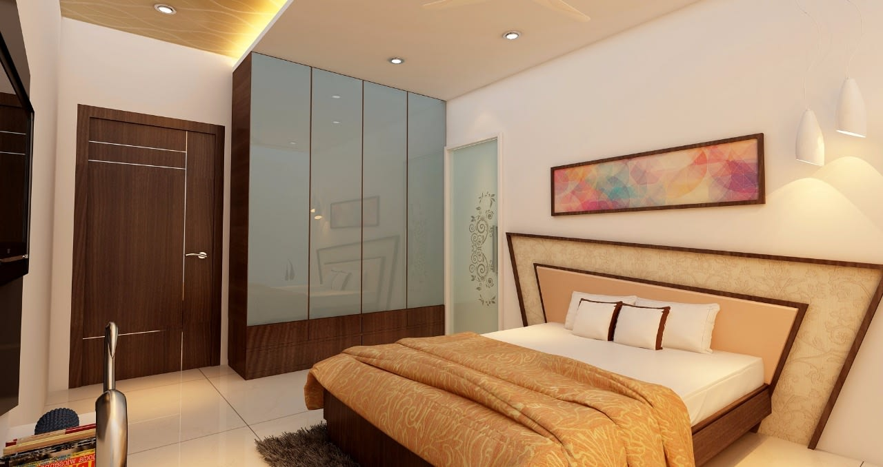 Contemporary bedroom! by Mohammad Riyaz Bedroom Contemporary | Interior Design Photos & Ideas