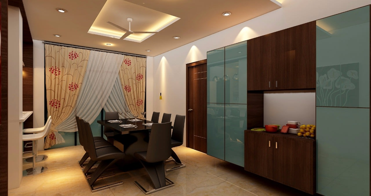 Modern dining area! by Mohammad Riyaz Dining-room Modern | Interior Design Photos & Ideas
