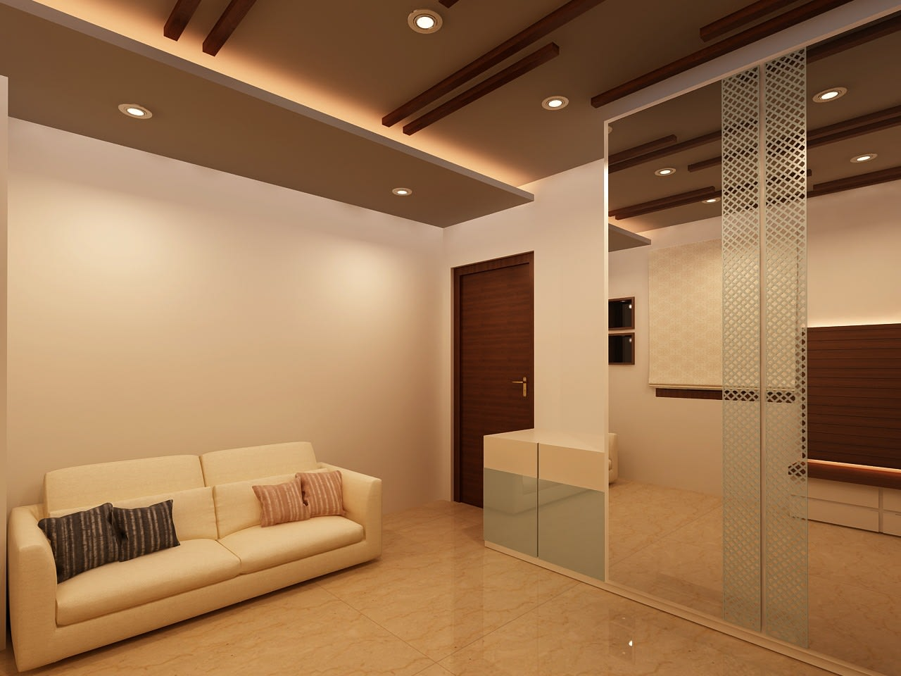 A simple living area! by Mohammad Riyaz Living-room Minimalistic | Interior Design Photos & Ideas