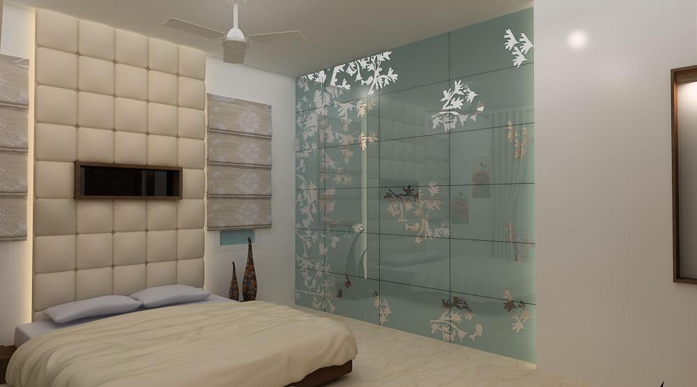 A  contemporary bedroom! by Mohammad Riyaz Bedroom Contemporary | Interior Design Photos & Ideas