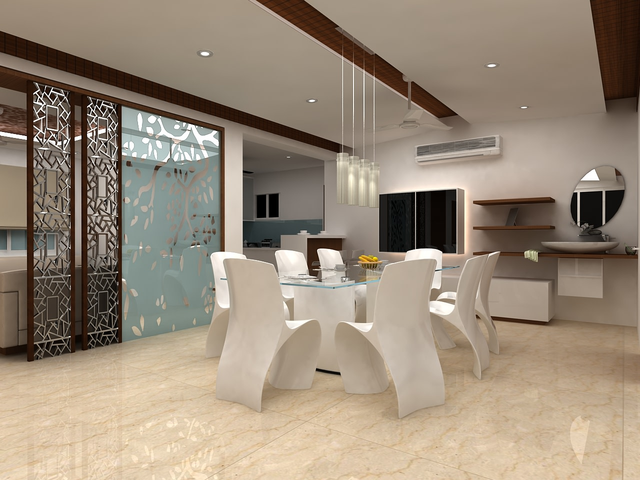 A  contemporary dining room! by Mohammad Riyaz Dining-room Contemporary | Interior Design Photos & Ideas