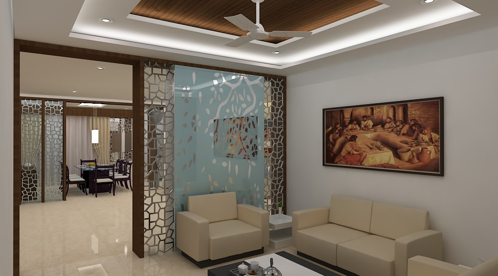 Contemporary living room by Mohammad Riyaz Living-room Contemporary | Interior Design Photos & Ideas