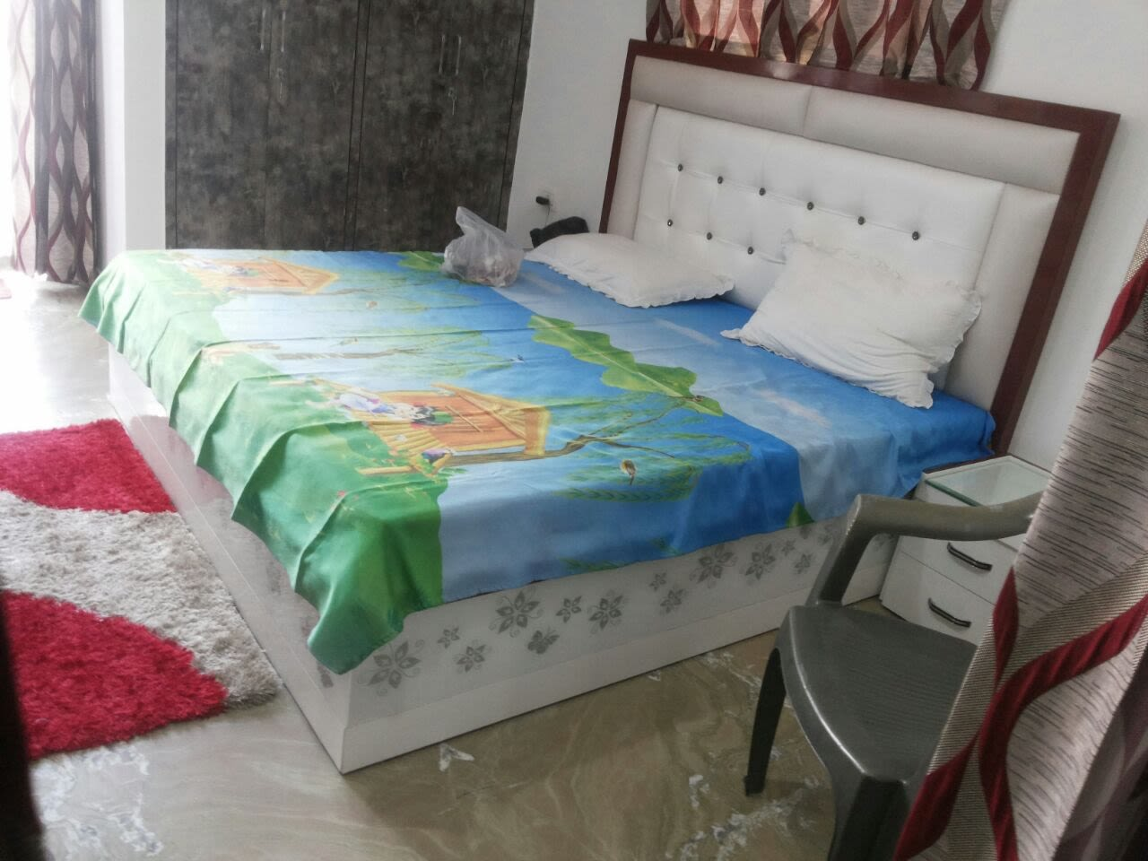 Contemporary bedroom with marble flooring by Build Craft Associates  Bedroom Contemporary | Interior Design Photos & Ideas