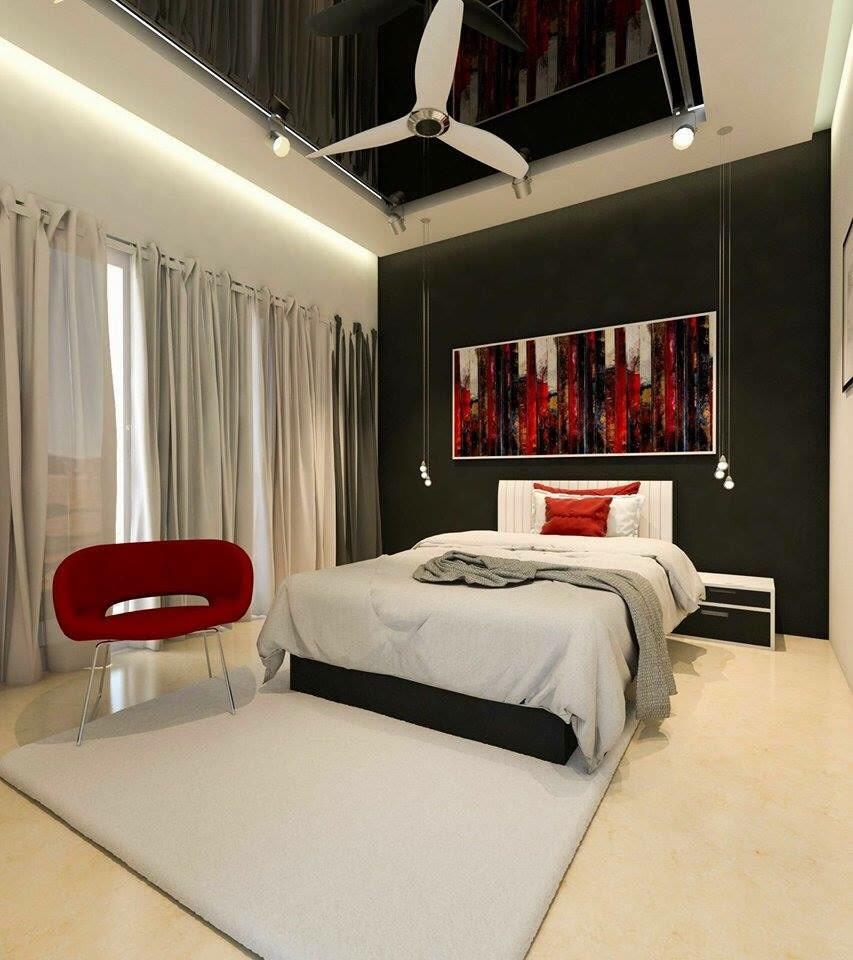 Bedroom With Box Bed With Retro Designs by Roopan  Bedroom Contemporary   Interior Design Photos & Ideas