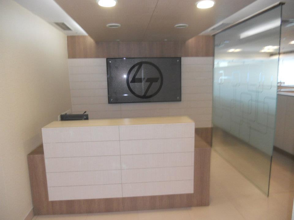Office Reception Area by Spaces Talk Architecture Modern | Interior Design Photos & Ideas