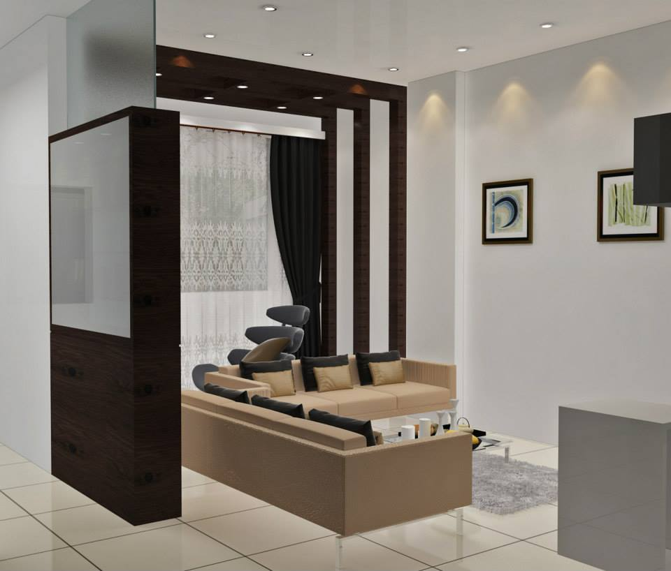 Tile Flooring And Pastel Colored Sofa by Krupa Bhansali Sanghavi Living-room Modern | Interior Design Photos & Ideas
