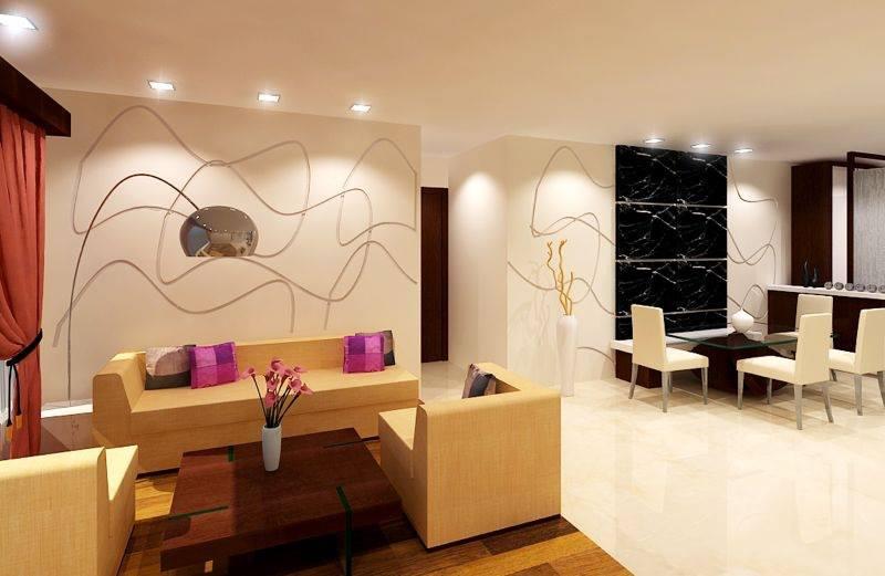 Living Room With Mid Century Modern Pastel Sofa by Krupa Bhansali Sanghavi Living-room Contemporary | Interior Design Photos & Ideas