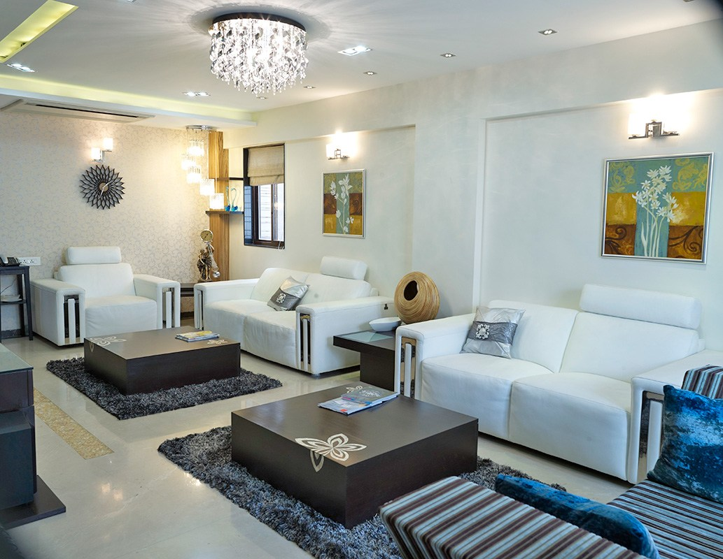 Twin Style Living Room by Gadkari Properties LLP Contemporary | Interior Design Photos & Ideas