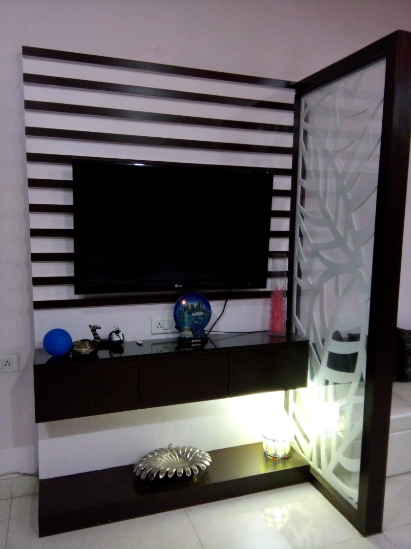 A Display cum TV unit! by shuffle pages Living-room Modern   Interior Design Photos & Ideas