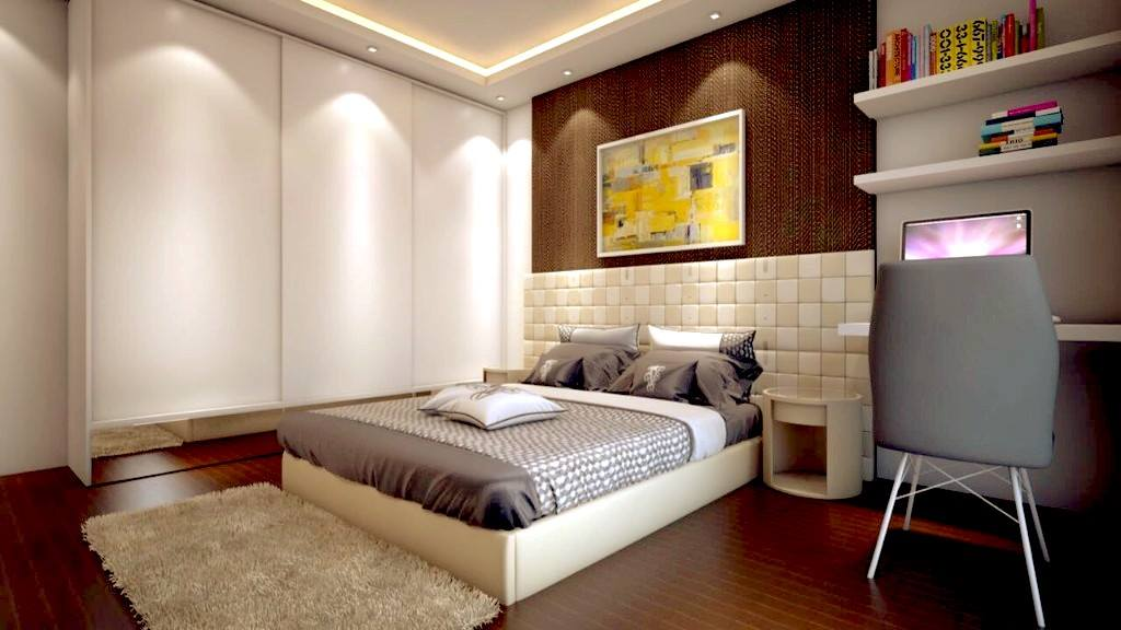 Stylish Kid's Room With Wooden Floor And False Ceiling by Huzzpa Bedroom Modern | Interior Design Photos & Ideas