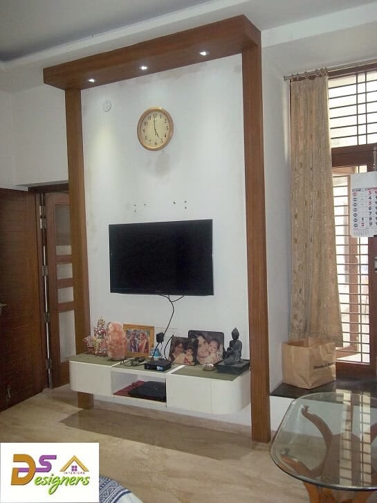 Living Room With Small TV Cabinet by Shivraj Singh Living-room Contemporary | Interior Design Photos & Ideas