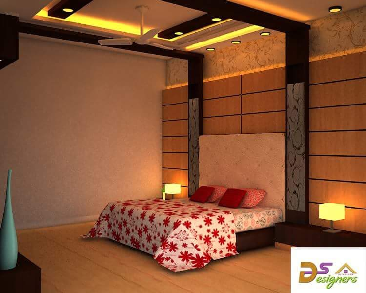 Bedroom With Box Bed And Wooden Wall by Shivraj Singh Bedroom Contemporary | Interior Design Photos & Ideas