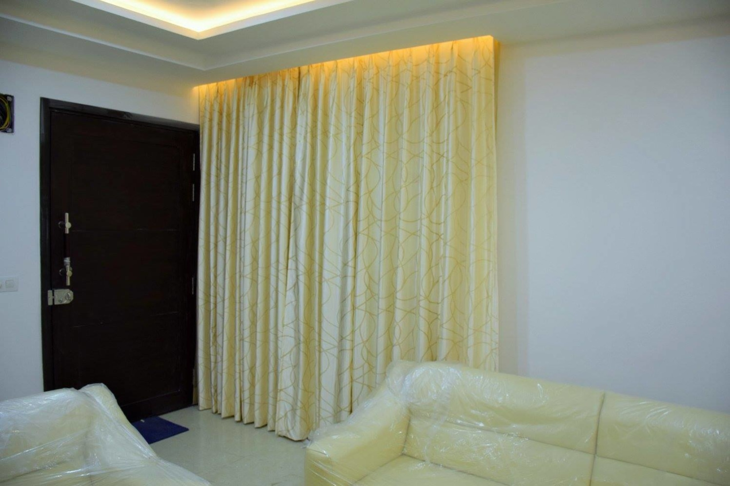 Colorful Curtains by Icraft Designz and Interiors