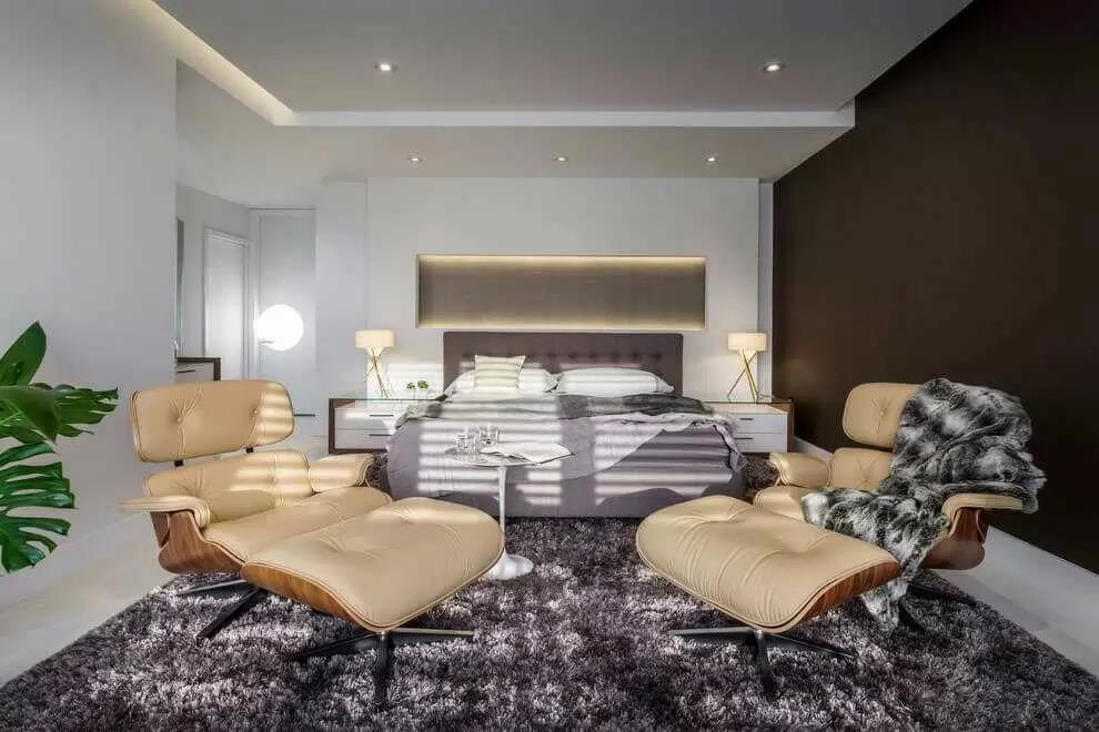 Artistic Bedroom With Recliners by Icraft Desginz and interiors Bedroom Modern | Interior Design Photos & Ideas