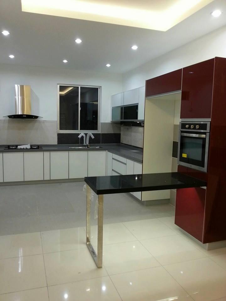 L Shaped Modular Kitchen With Marble Flooring by Icraft Desginz and interiors Modular-kitchen Modern | Interior Design Photos & Ideas