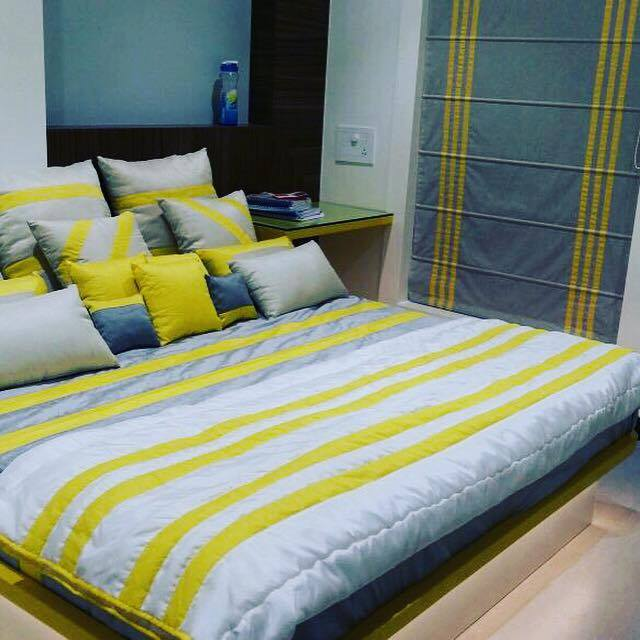 Yellow And Blue by Icraft Designz and Interiors Bedroom Contemporary | Interior Design Photos & Ideas