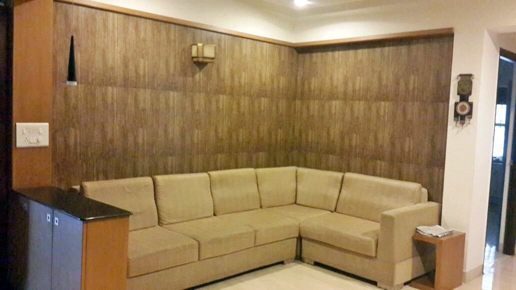 Living Room With Sectional Sofa by Madhumathi. J. Dharwar Living-room Contemporary | Interior Design Photos & Ideas