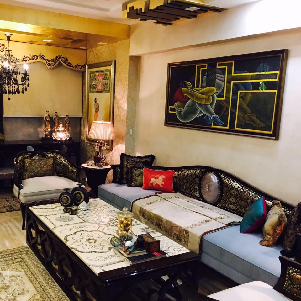 An Eclectic Living Room by Vcues Designs Pvt. Ltd.  Living-room Eclectic   Interior Design Photos & Ideas