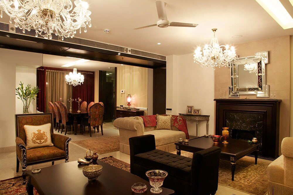 Eclectic Living Room by Vcues Designs Pvt. Ltd.  Living-room Eclectic | Interior Design Photos & Ideas