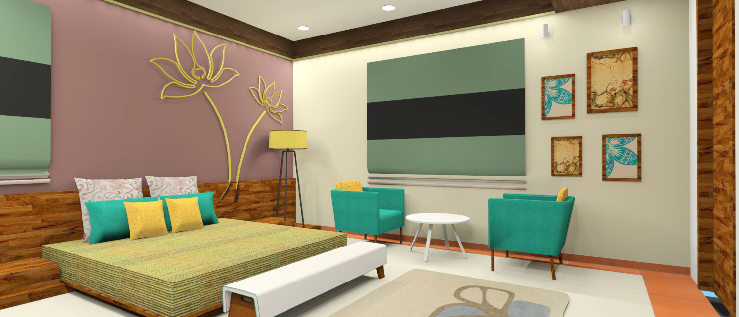 Eclectic Bedroom With Wall Mounted Bed by Ankita Patel Bedroom Modern   Interior Design Photos & Ideas