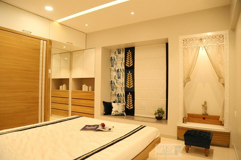 Bedroom With Full Wall Wardrobe And Dressing Table by Seema Jalan Bedroom Traditional | Interior Design Photos & Ideas