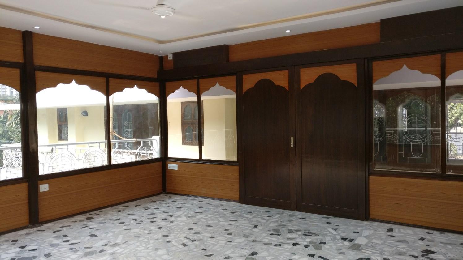 Veranda With wooden Window Frames by Chandan Kataruka Open-spaces Contemporary   Interior Design Photos & Ideas