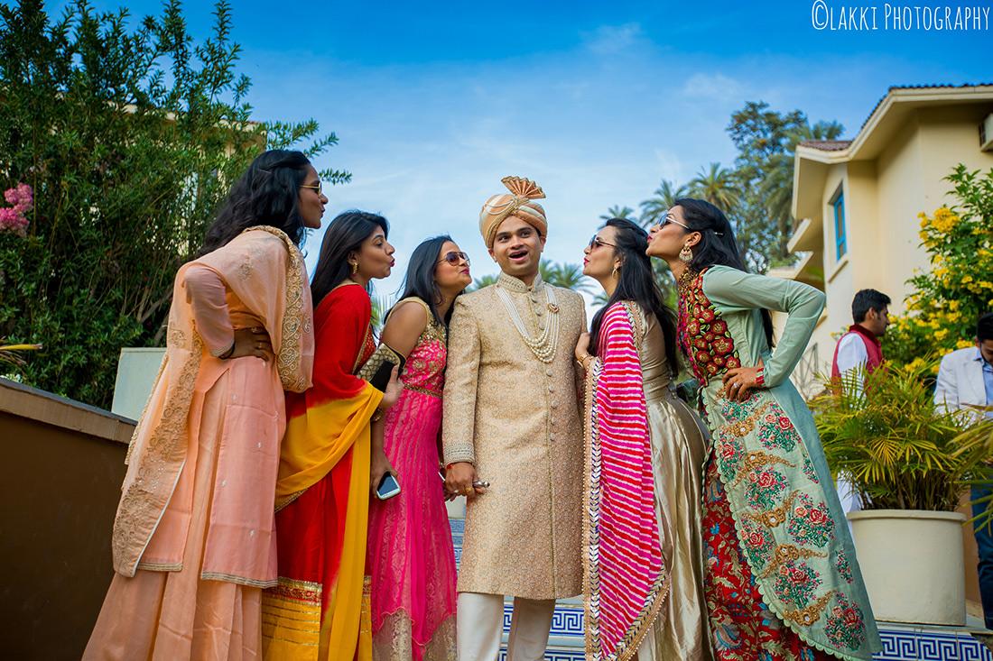 Groom With Bridesmaid On Wedding day by Lakki Photography Wedding-photography Groom-wear-and-accessories | Weddings Photos & Ideas