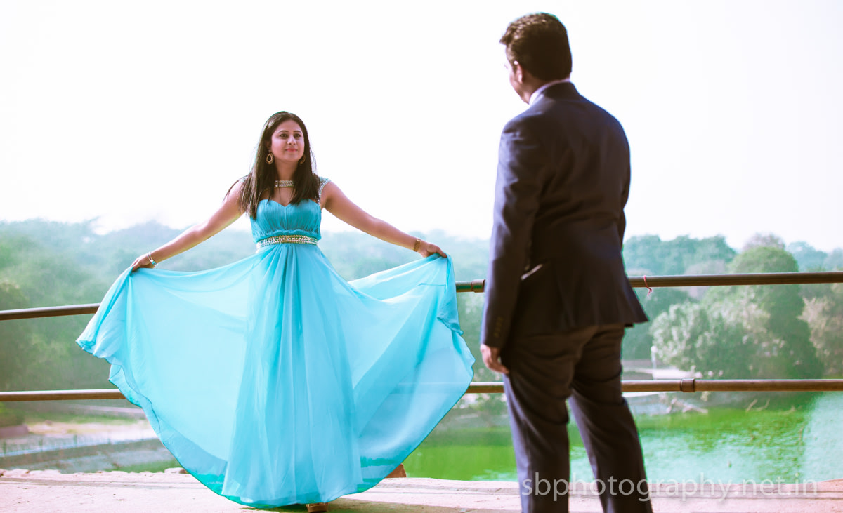 Bride To-Be Wearing Sky-Blue Gown by Sanjay Balyan Wedding-photography Wedding-hairstyles Groom-wear-and-accessories Wedding-dresses | Weddings Photos & Ideas