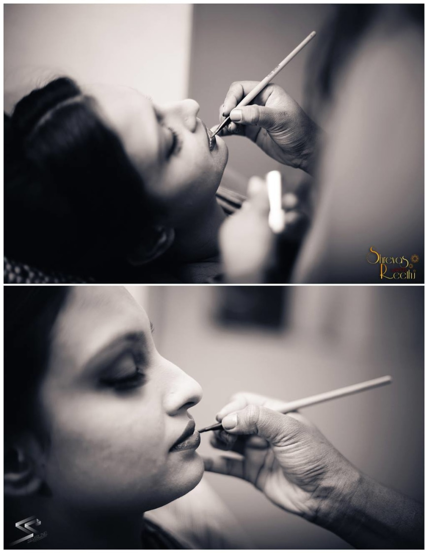 The bride is getting her makeup! by Silverline Photography  Wedding-photography | Weddings Photos & Ideas