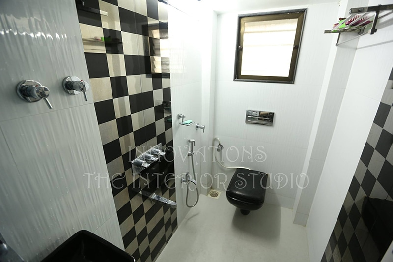Black Sanitaryware and Walk-in Shower by Innovations - The Interior Studio