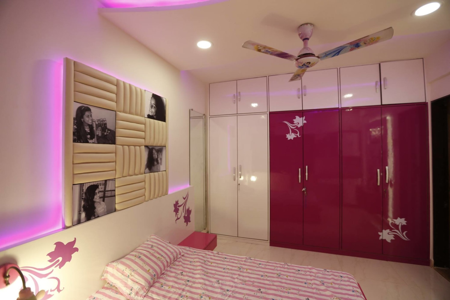 Kids Bedroom With Personalized Photo Beige Headrest by Innovations - The Interior Studio Bedroom Modern | Interior Design Photos & Ideas