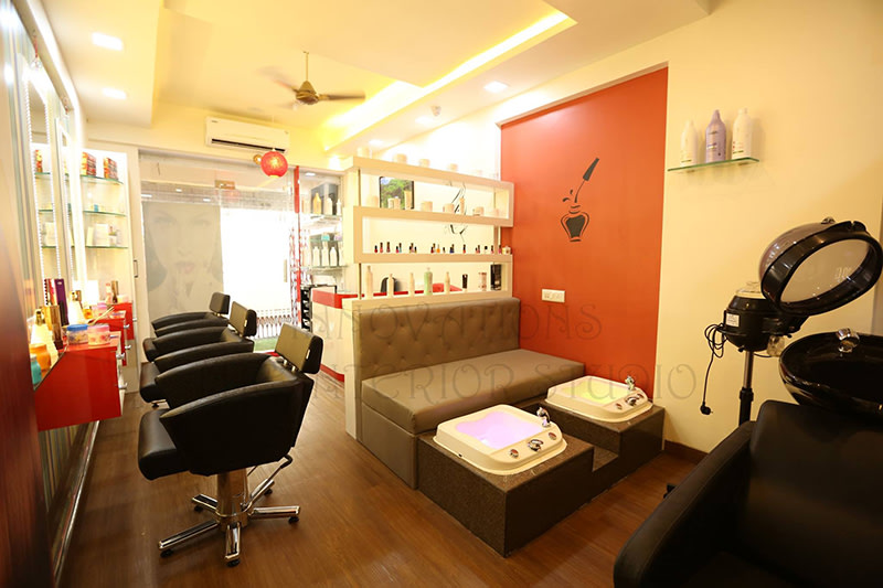Salon Decor With Black Hairstyling Chairs by Innovations - The Interior Studio
