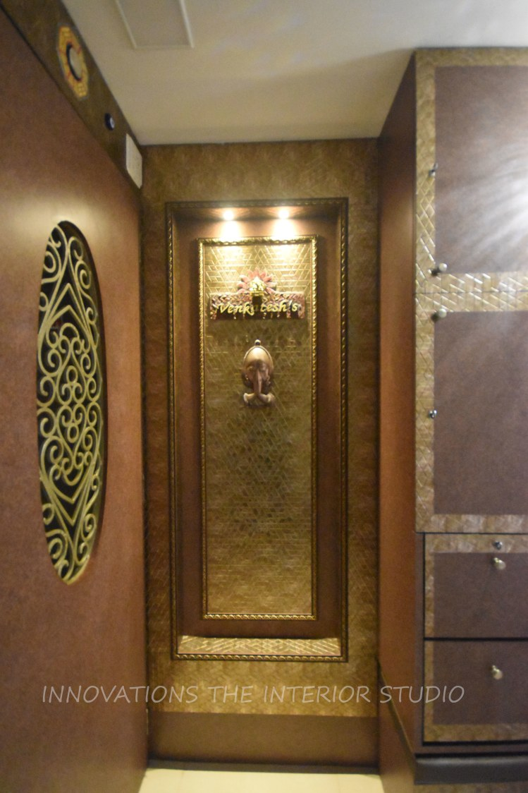 Hallway Decor With Bronze Detailing Pattern by Innovations - The Interior Studio Indoor-spaces Modern | Interior Design Photos & Ideas