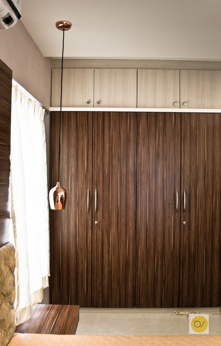 Wooden Wardrobe by Ogling Inches Design Architects Bedroom Contemporary | Interior Design Photos & Ideas