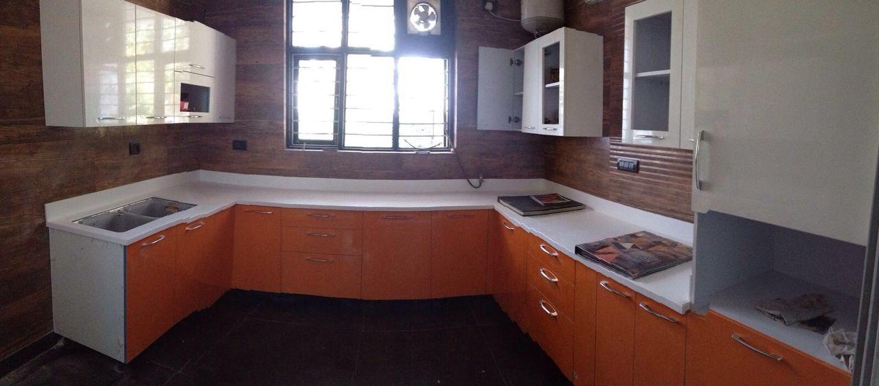 Simple modular kitchen! by crosshomes.in  Modular-kitchen Modern | Interior Design Photos & Ideas