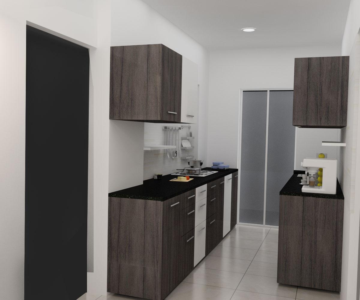 Modern Wooden Modular Kitchen by Design Options - UrbanClap