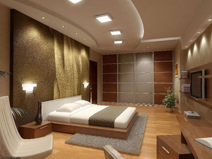Bronze Shaded Bedroom With Textured Wall by Mohit Kumar Bedroom Modern | Interior Design Photos & Ideas