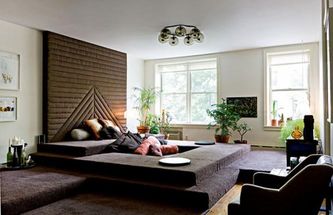Master Bedroom With Soft Rug by Mohit Kumar Bedroom Contemporary | Interior Design Photos & Ideas