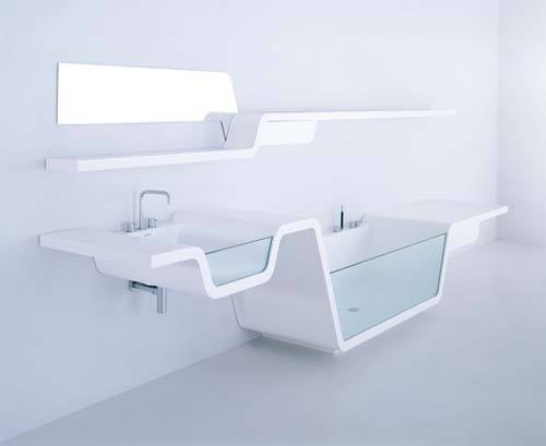 3D Design Of Splashed White Bathroom by Mohit Kumar Bathroom Modern | Interior Design Photos & Ideas