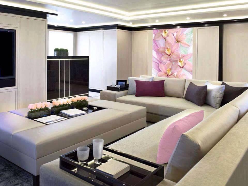 Heliotrope Shaded Living Room With False Ceiling by Mohit Kumar Living-room Contemporary   Interior Design Photos & Ideas