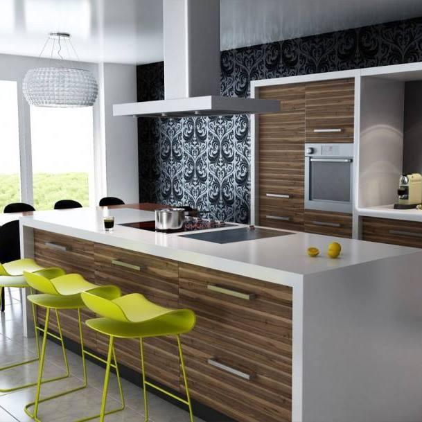 Antique Oak Shaded Modular Kitchen and wooden cabinet by Mohit Kumar Modular-kitchen Modern | Interior Design Photos & Ideas