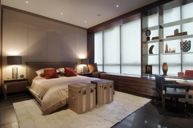 Ecru Shaded Bedroom With Wooden Floor by Mohit Kumar Bedroom Contemporary | Interior Design Photos & Ideas