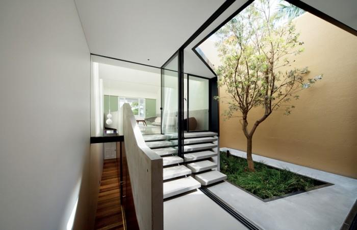 Hallway With Staircase by Mohit Kumar Indoor-spaces Modern | Interior Design Photos & Ideas