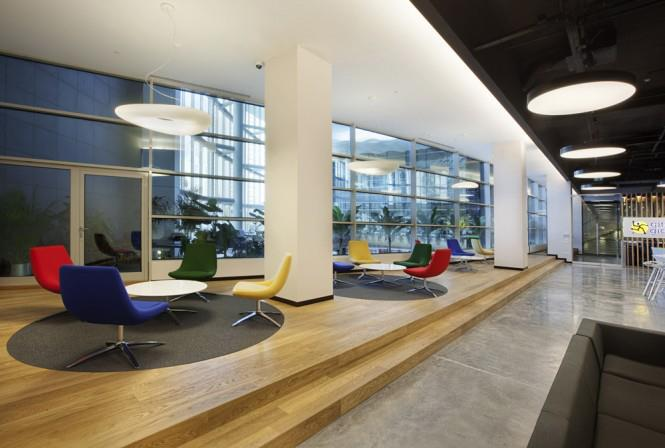 Office Waiting Area With Colorful Chairs by Mohit Kumar Modern   Interior Design Photos & Ideas