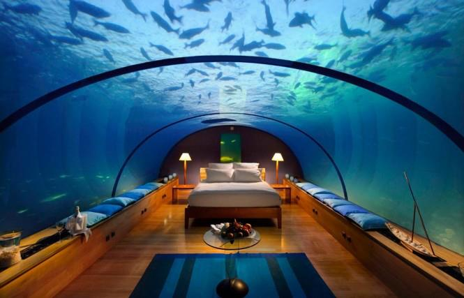 Aquatic Themed Bedroom With Wooden Floor by Mohit Kumar Bedroom Contemporary | Interior Design Photos & Ideas